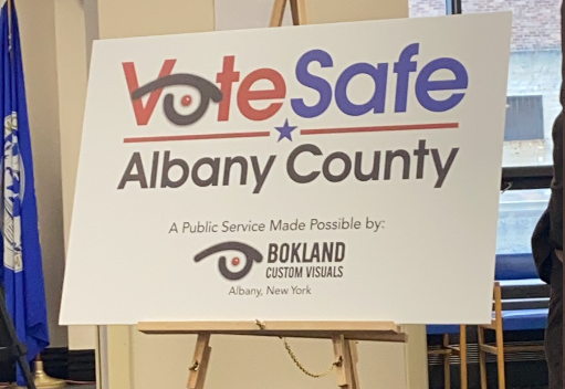 Albany County held a press conference to inform the public of their safety protocols at the polls.