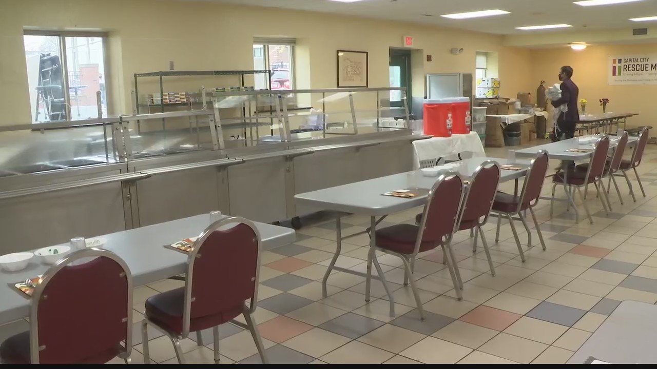 Capital City Mission Thanksgiving dinner for those in need