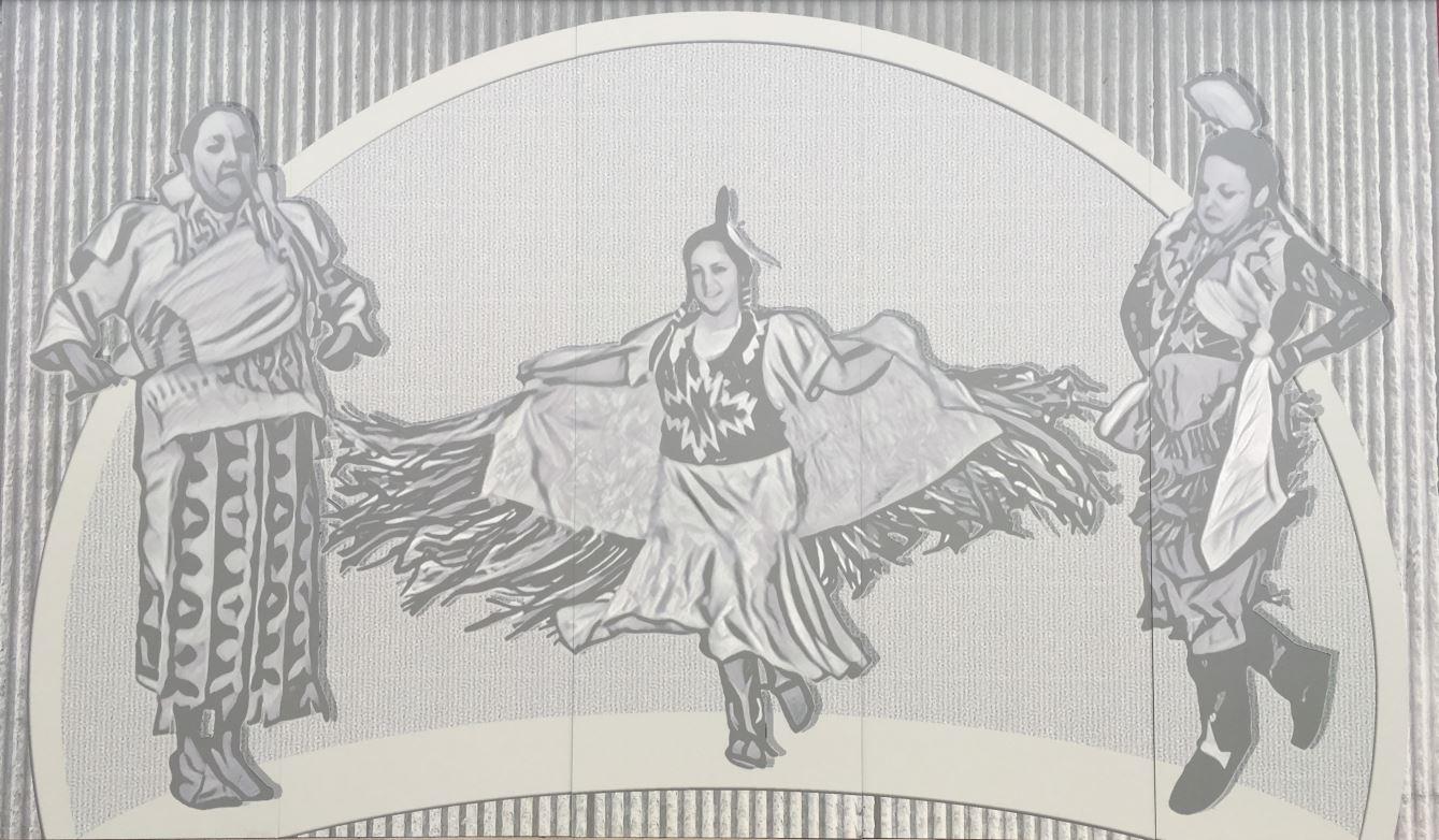 Native American Albany Airport Mural 1