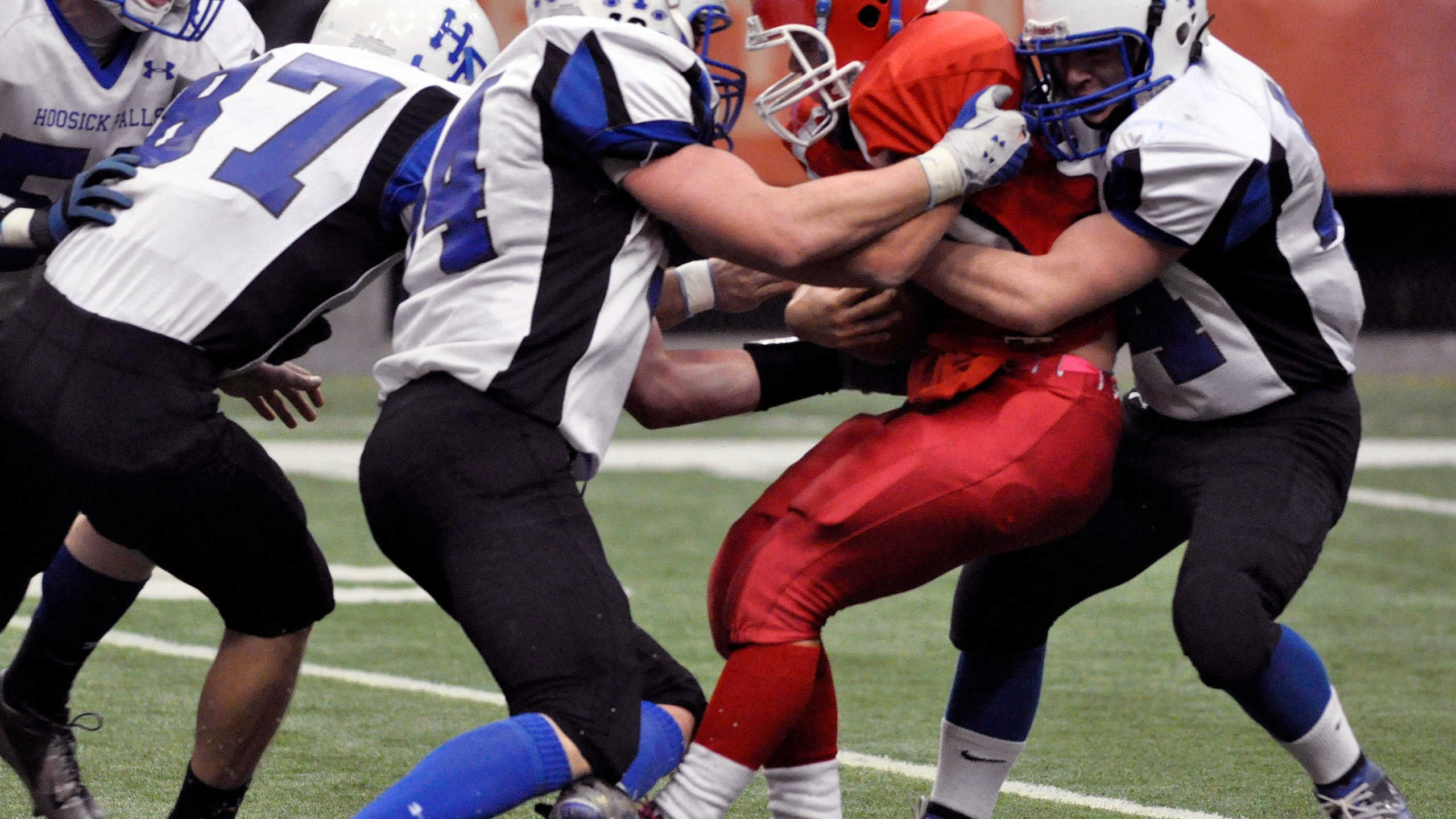 Hoosick Falls at Hornell at the 2012 New York State High School Football Class C championship game in Syracuse