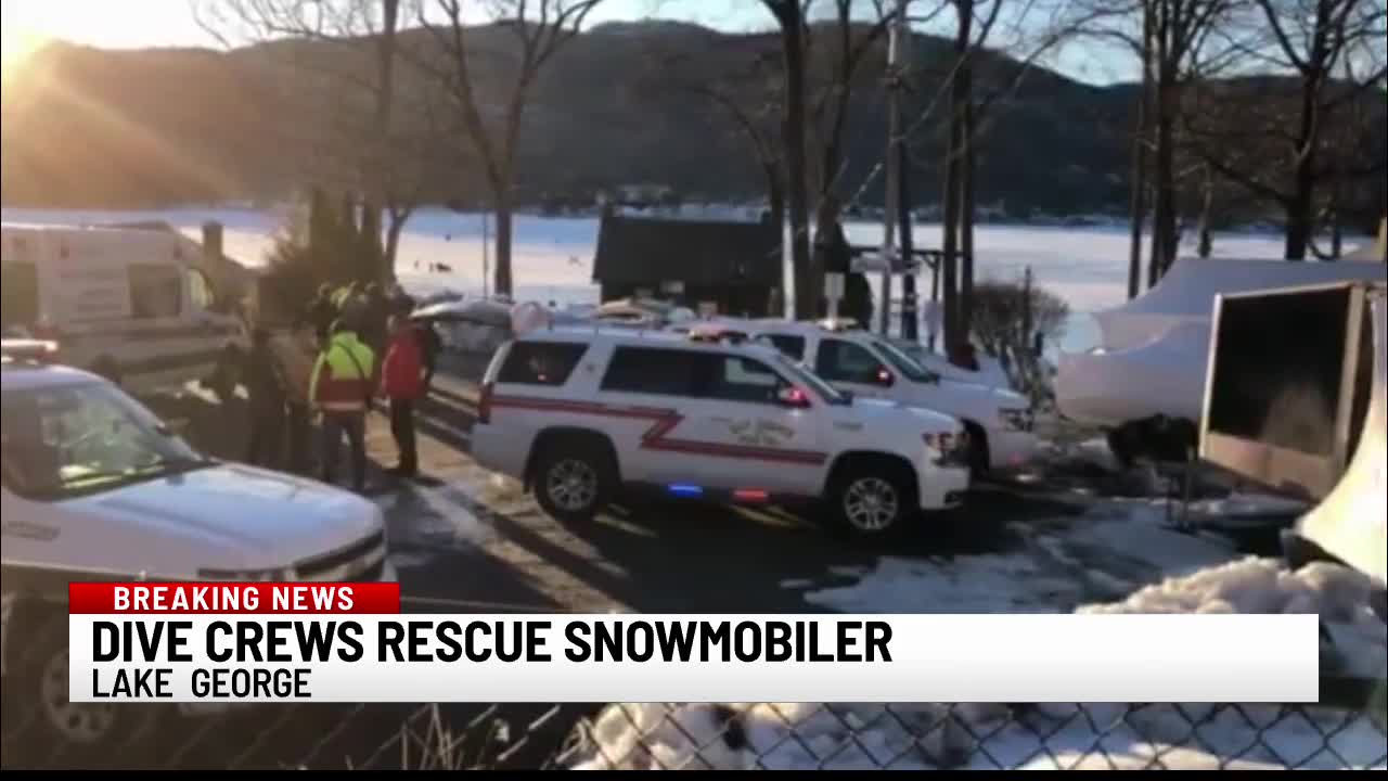 dive crews snowmobiler lake george 022521