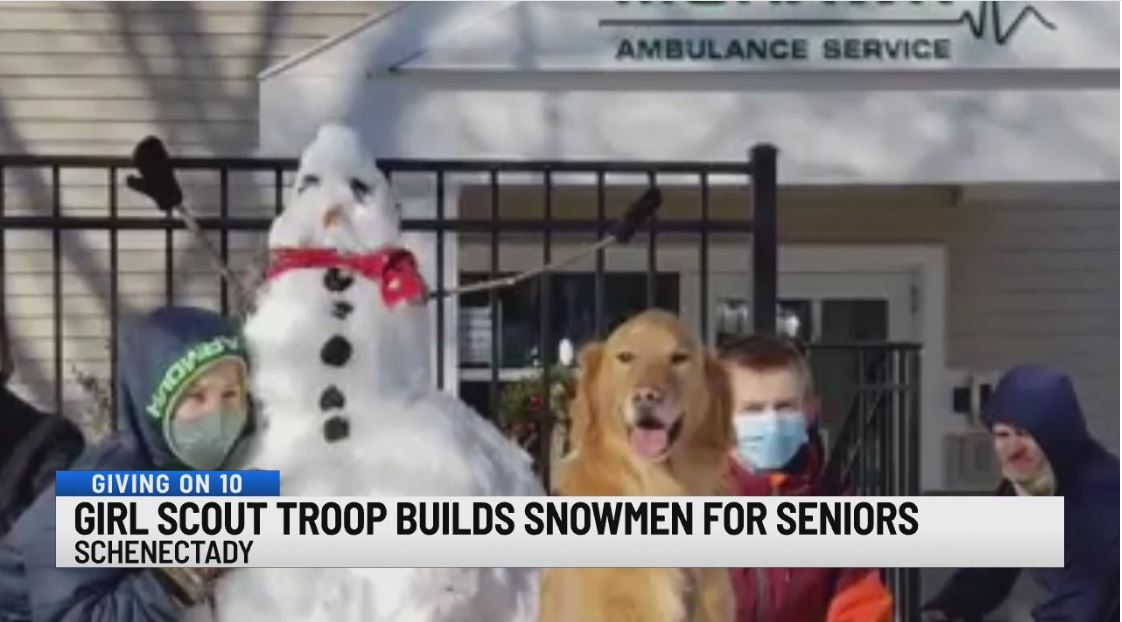girl scout snowmen