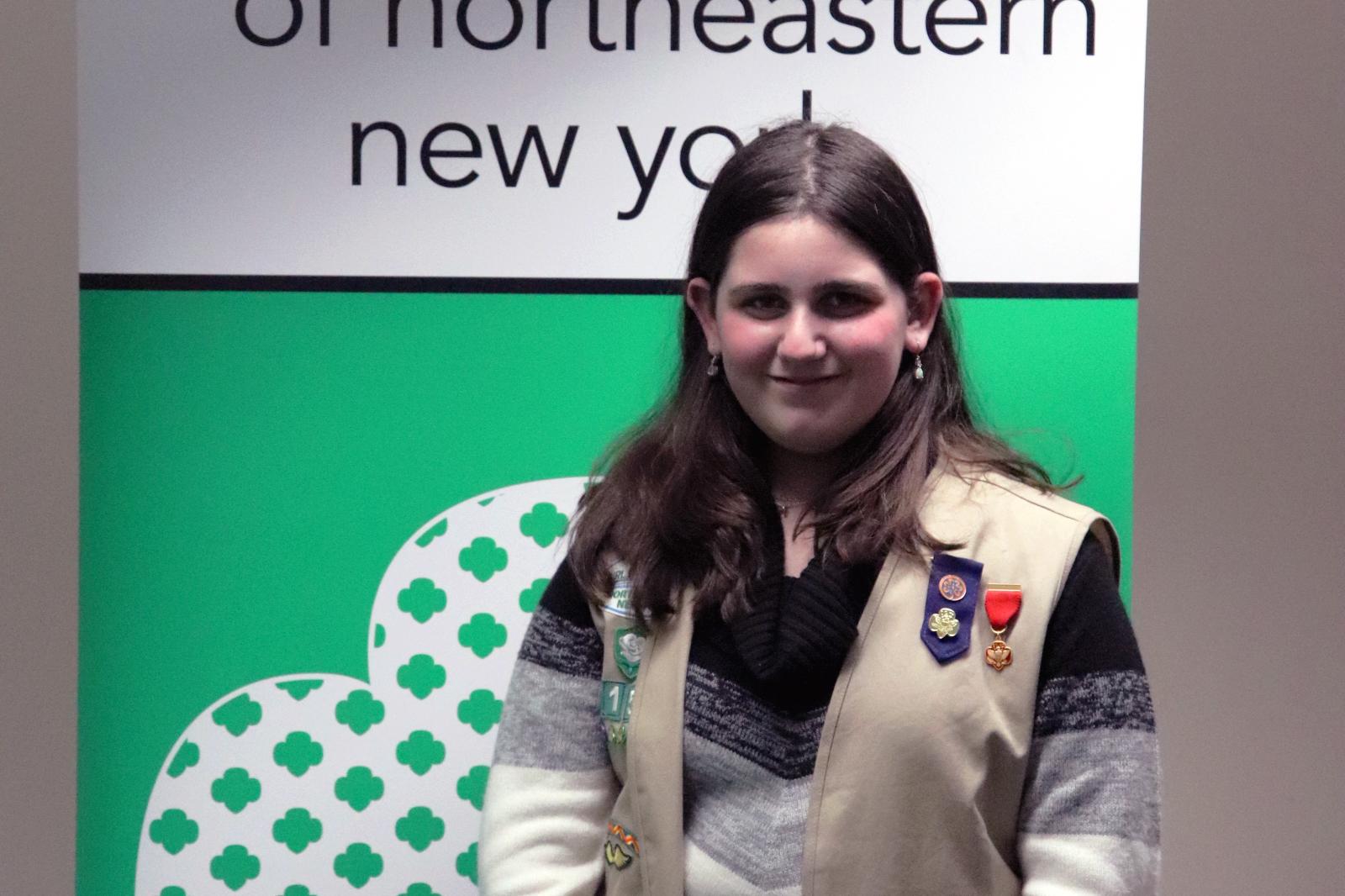Girl Scout Leah Schwarzmer
