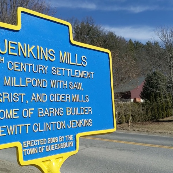 jenkinsville road sign queensbury ny
