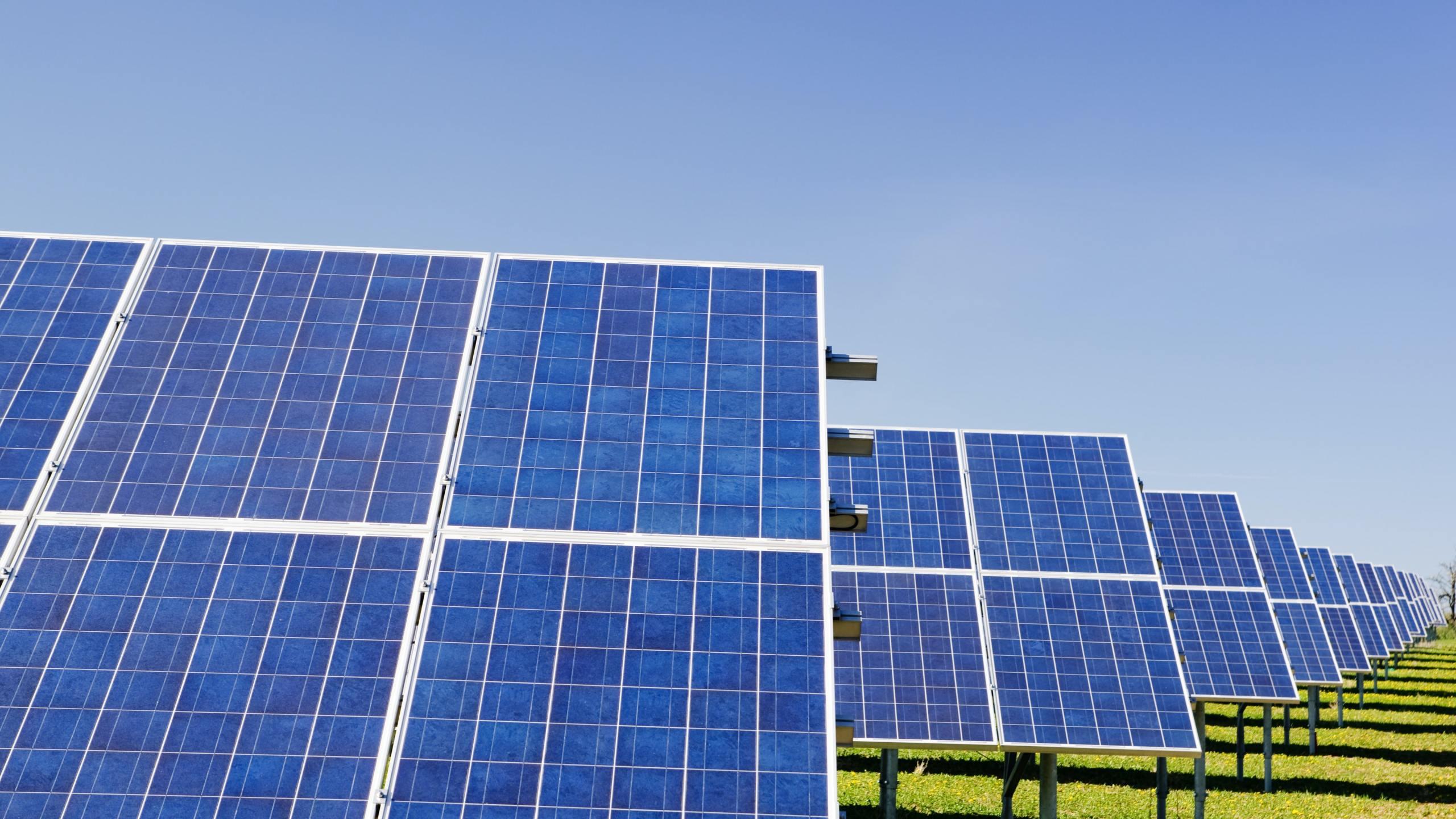 Solar panels (Zbynek Burival / Unsplash)