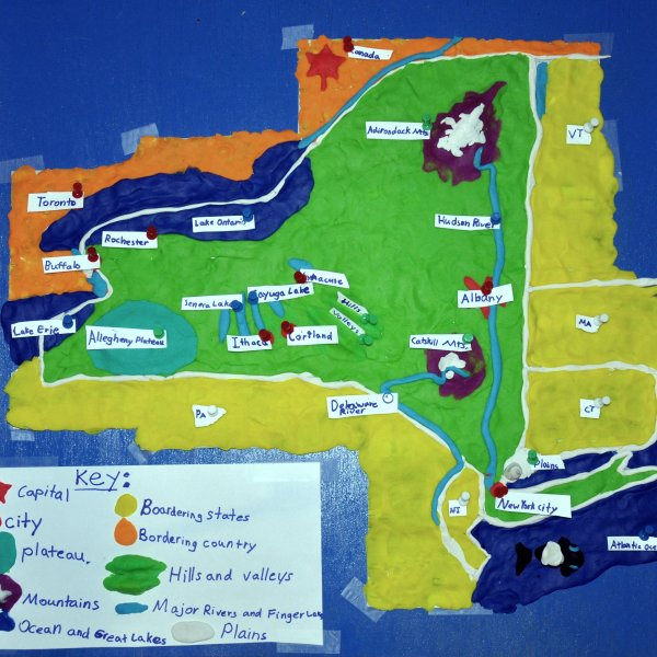 A map of New York State made from Play-Doh (Dimitri Ponirakis / Flickr / CC BY 2.0)