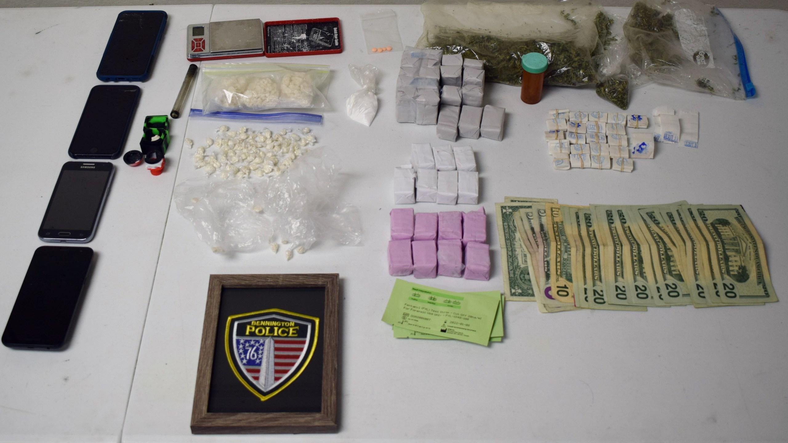 Search warrant yields drugs and paraphernalia in Bennington (Bennington PD)