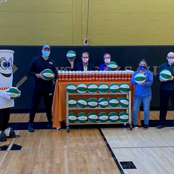 Dunkin siena basketball donation