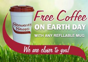 Stewart's Earth Day free coffee