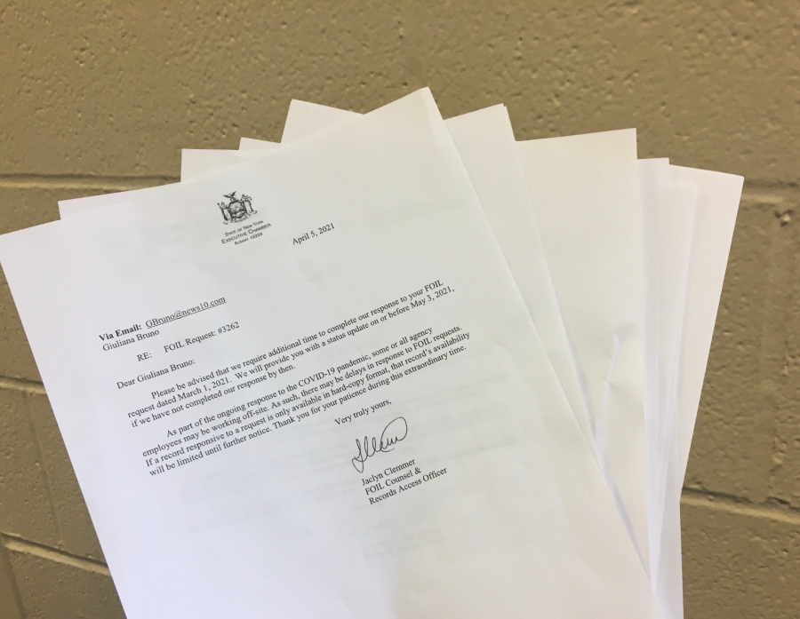 FOIL requests filed by NEWS10 ABC