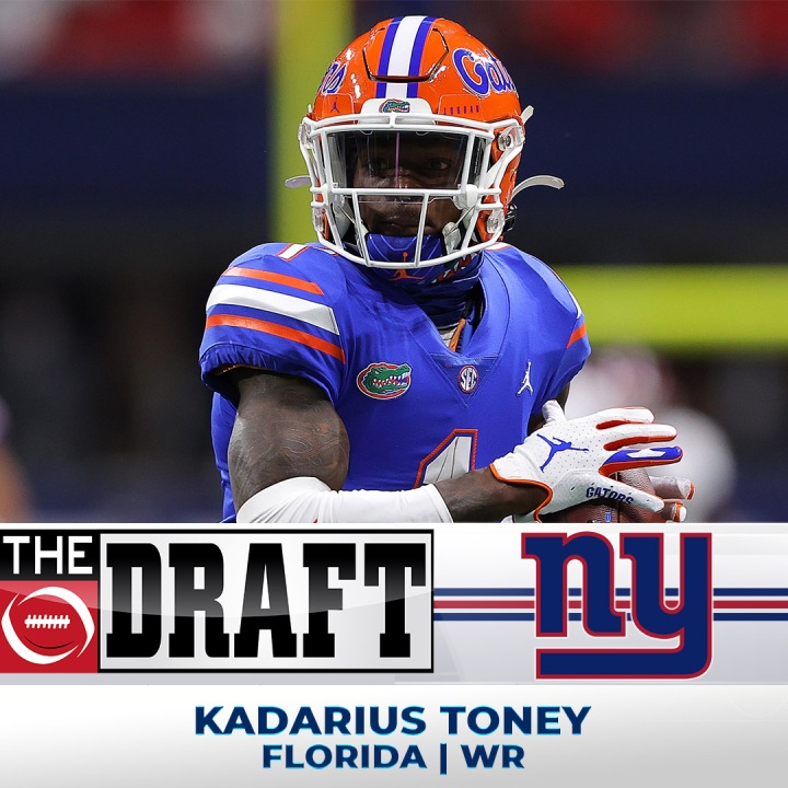 #20 The New York Giants select University of Florida WR Kadarius Toney