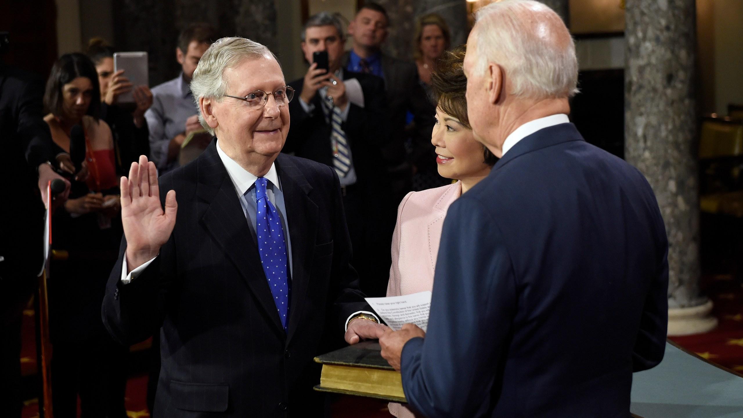 Joe Biden, Mitch Mcconnell, Elaine Chao