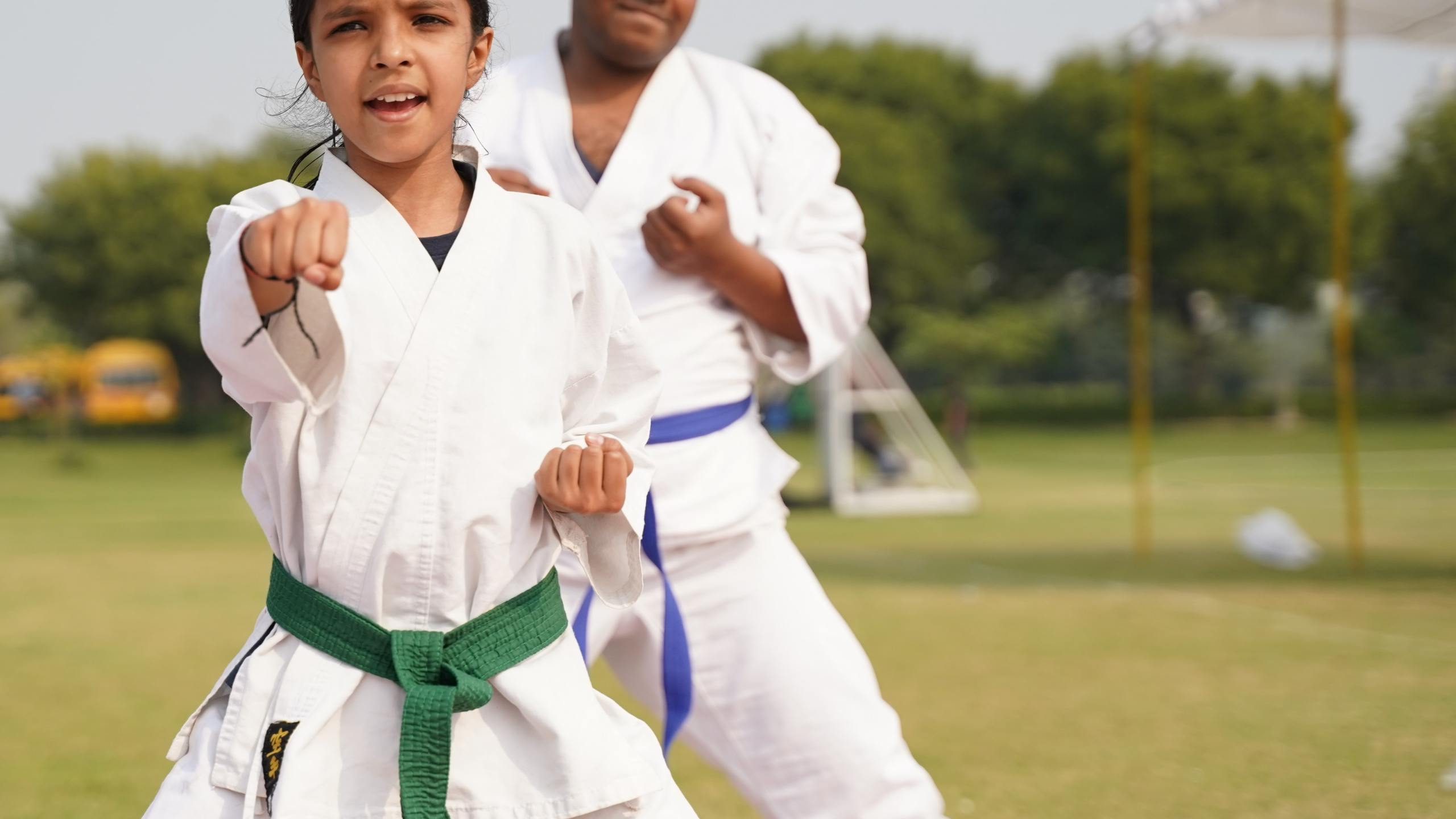 A child receiving karate training. (Ashima Pargal / Unsplash)
