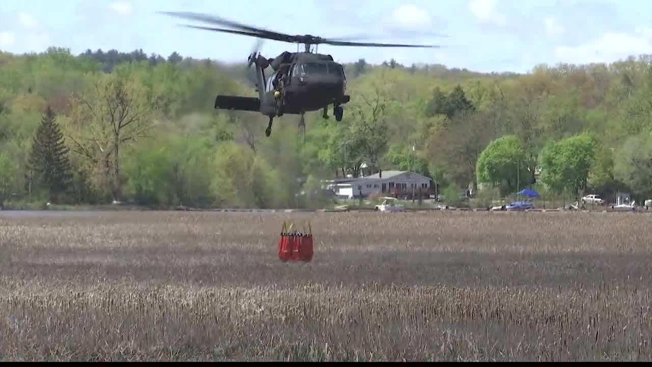 national guard black hawk helicopter mohawk river