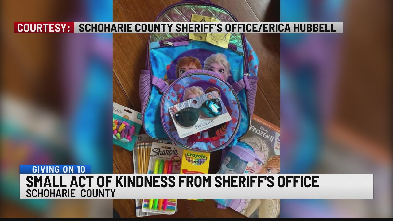 Small act of kindness from Schoharie Sheriff's office