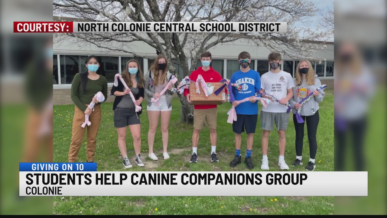 North Colonie Students help canine companions group