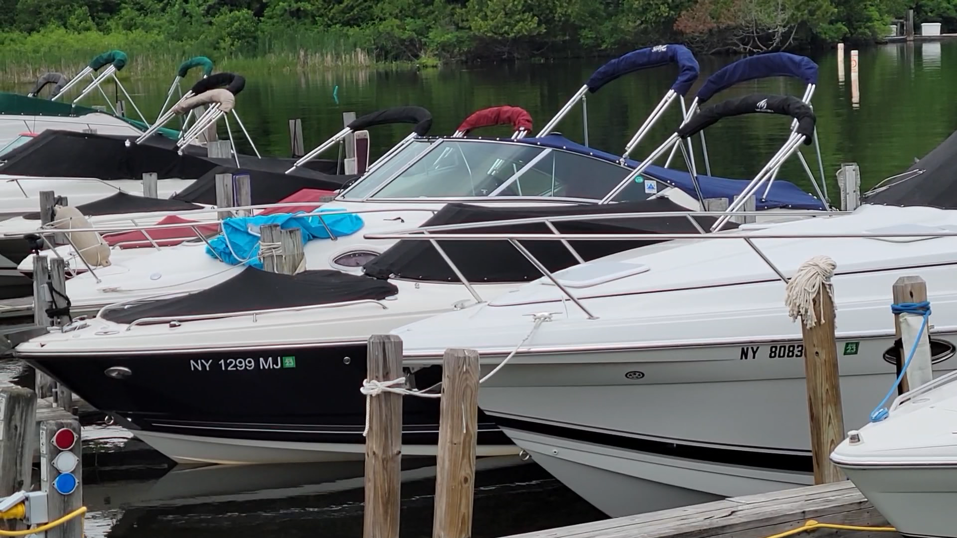 docked boats lake george