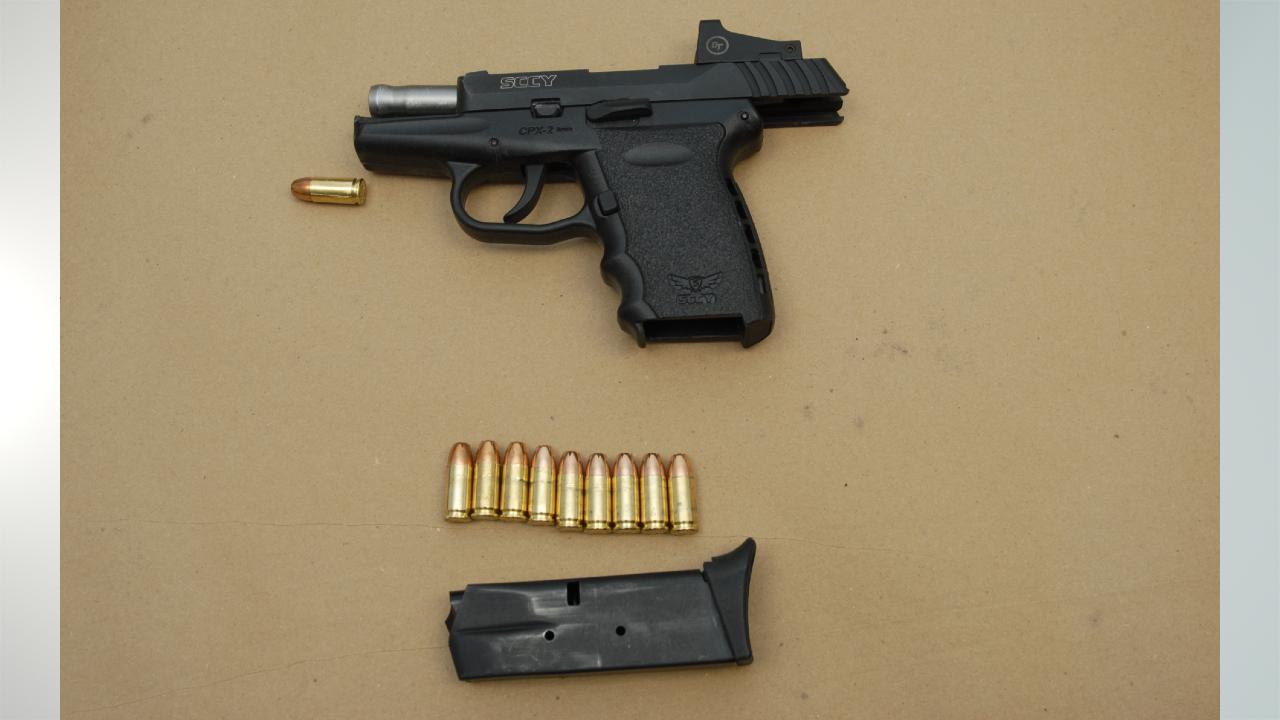 9mm handgun recovered