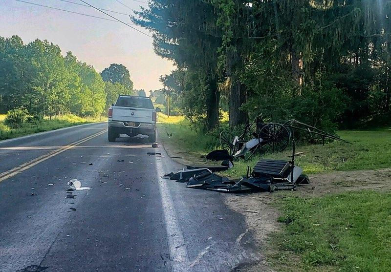 Amish buggy crash, County Route 41, town of Richland, Oswego County, New York (Photo: New York State Police)