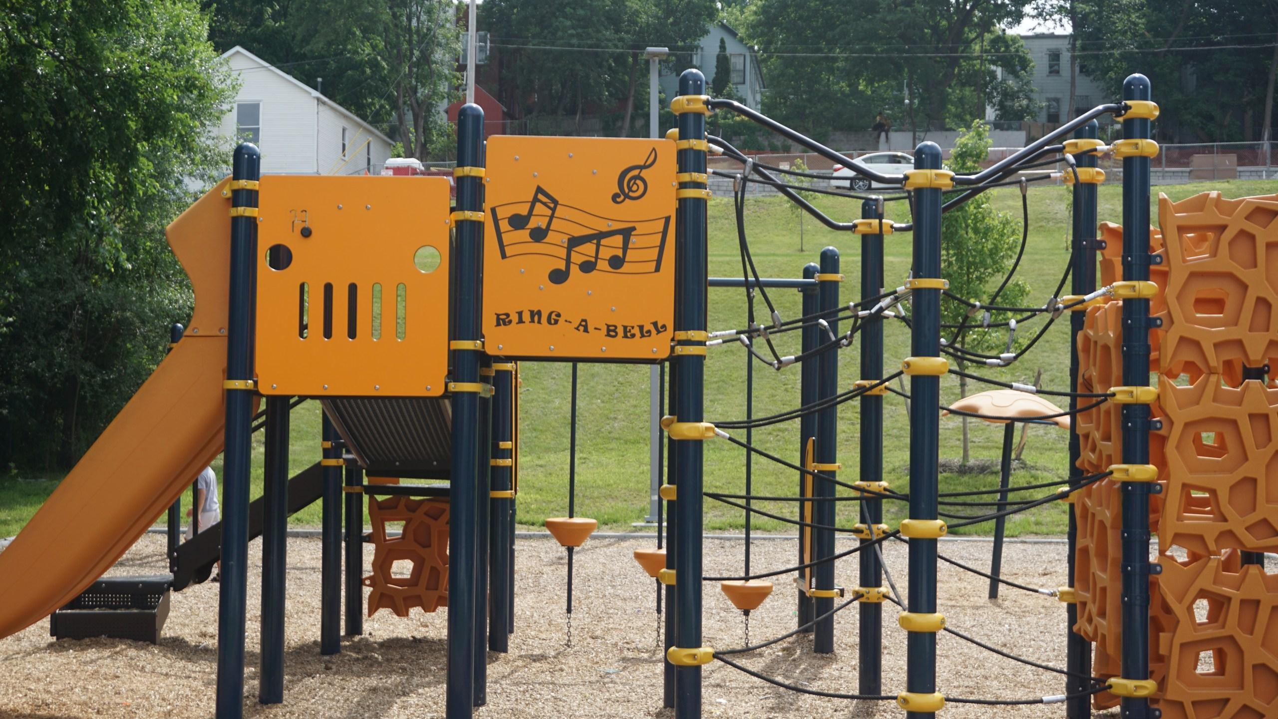 New playground at Geneva Pompey Park. (City of Troy)