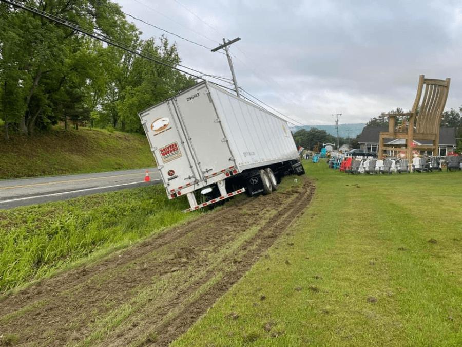 Tractor Trailer Crash Hoosick Falls 5