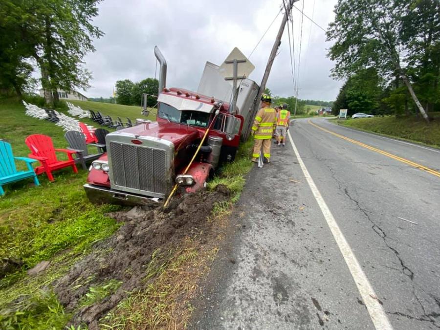 Tractor Trailer Crash Hoosick Falls 4
