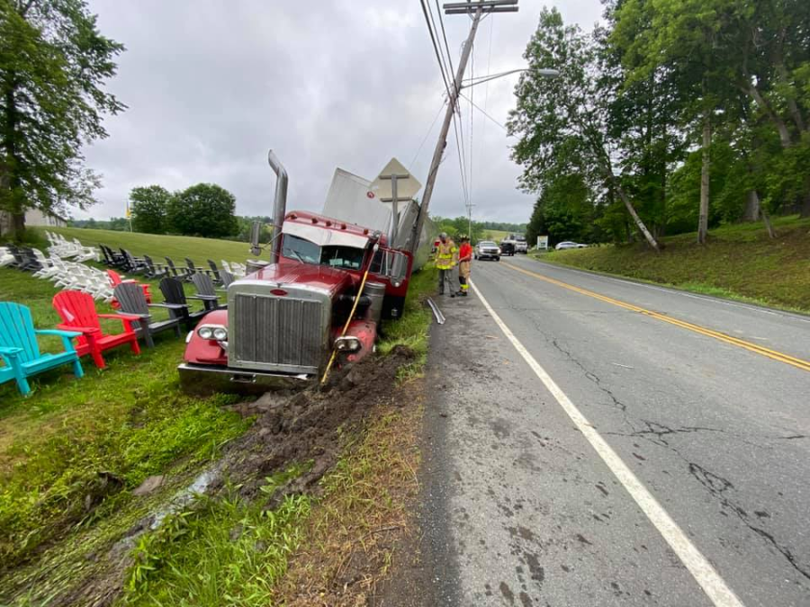 Tractor-trailer accident on Route 7