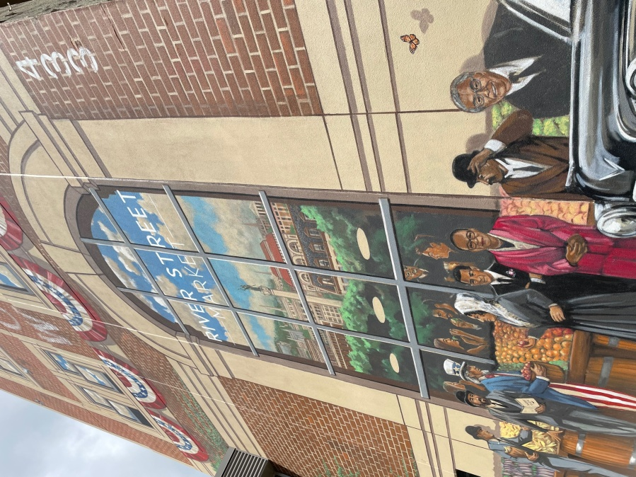 River Street Market mural