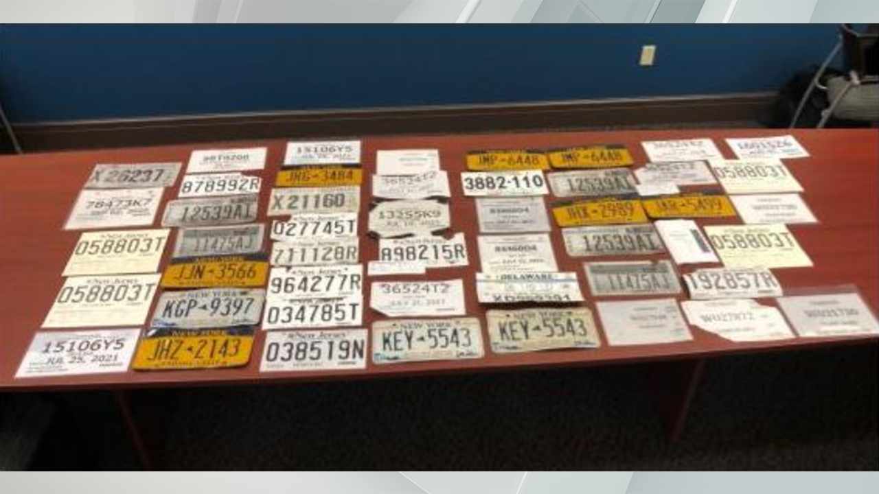 License Plates seized in Albany