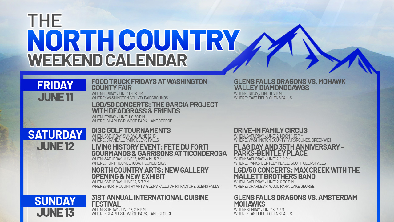 NORTH COUNTRY WEEKEND CALENDAR_JUNE 11-13_FSG