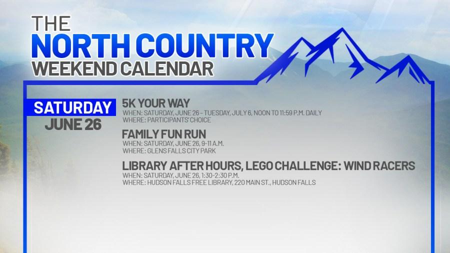 north country weekend calendar