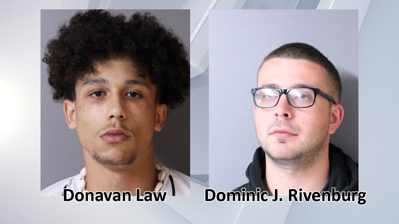 Donavan Law and Dominic Rivenburg mugshots (Hudson Police Department)