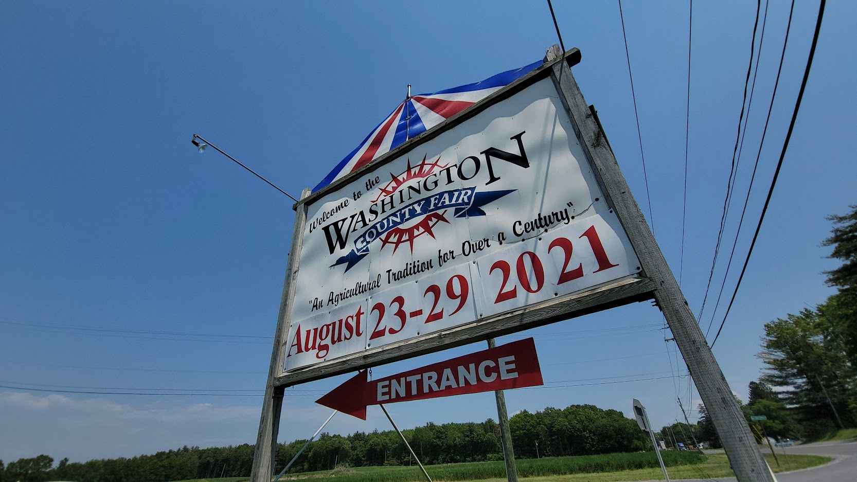 washington county fair sign