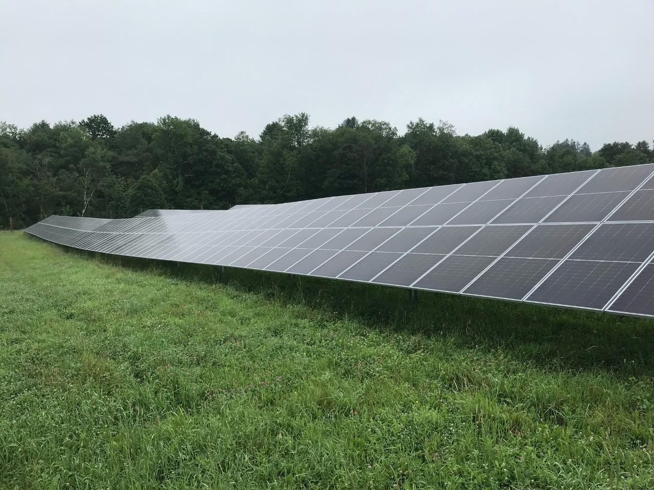 The mid-Hudson solar farm in the town of Bethel (Sullivan County).