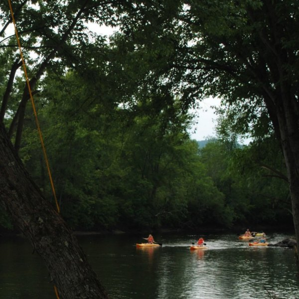 Kayakers on the Schroon River in 2012. (Diane Cordell / Flickr / CC BY-NC-ND 2.0)