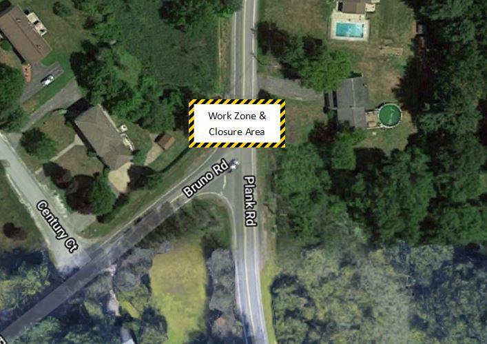 Plank Road Work Zone Area