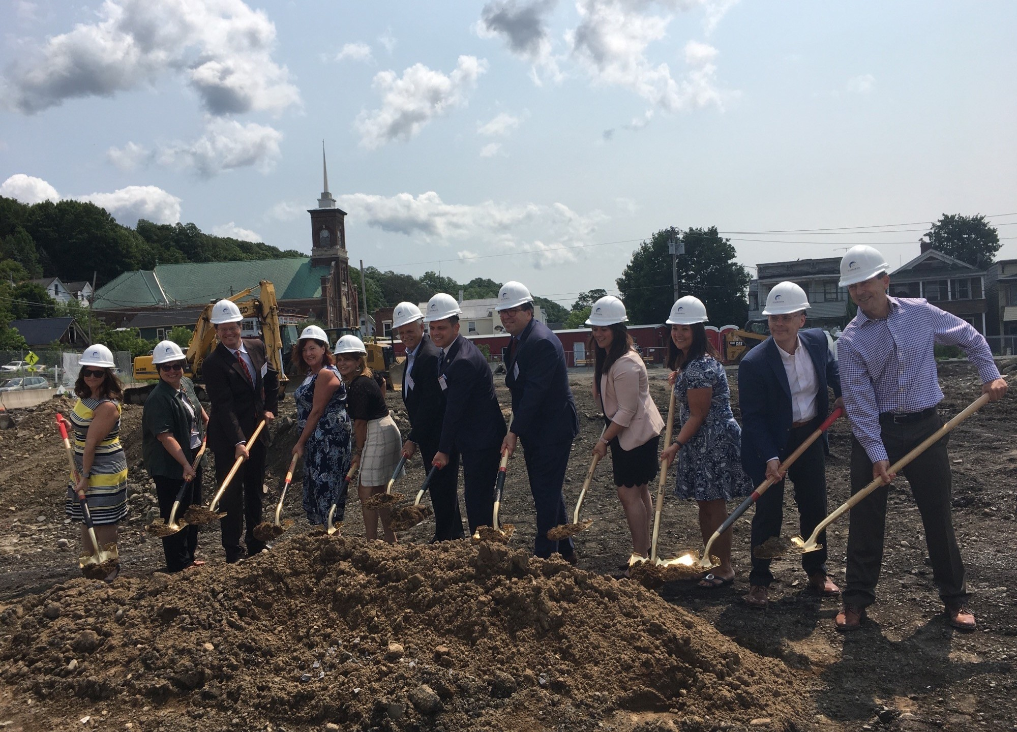 Breaking ground at the Veddersburg Apartments project from HCR