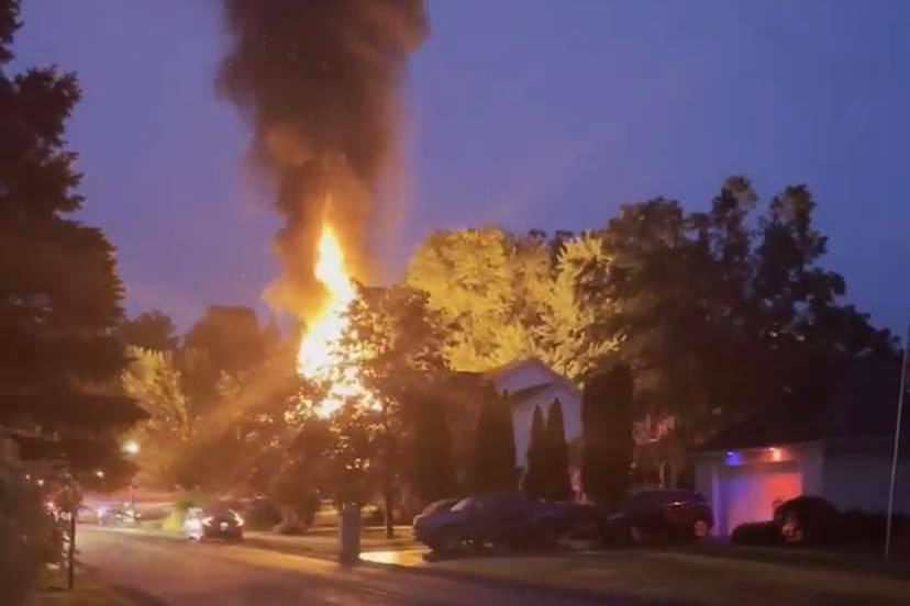 Olive Tree Lane fire. (Albany Fire Department)