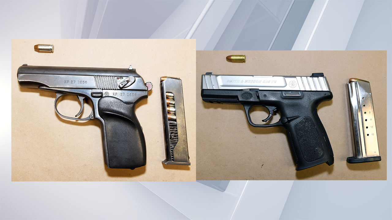 Guns recovered on Lark Street in Albany on July 30, 2021. (Albany Police Department)
