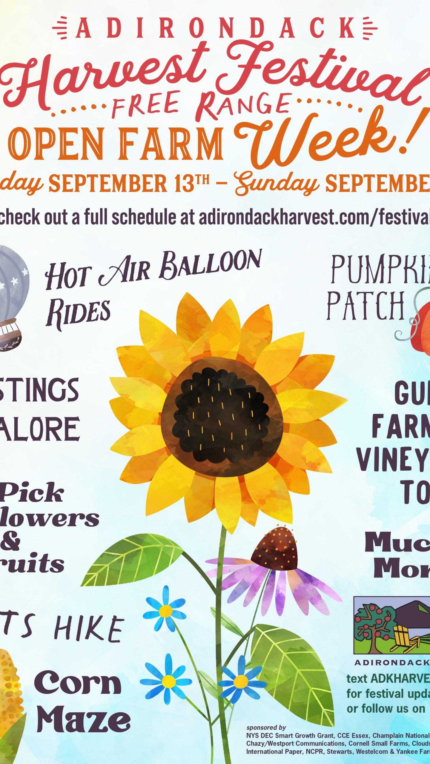 Adirondack Harvest Festival Open Farm Week Poster