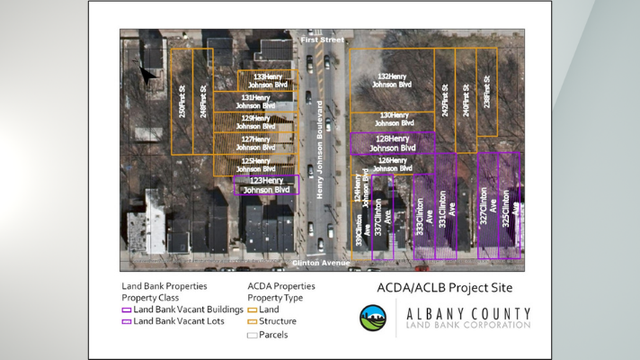 Albany County Land Bank Project Map