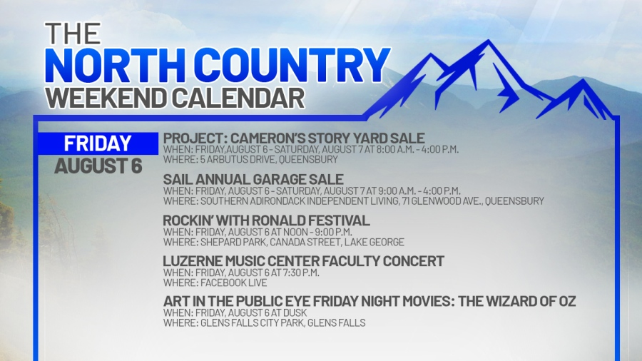 NORTH COUNTRY WEEKEND CALENDAR_FRIDAY AUGUST 6