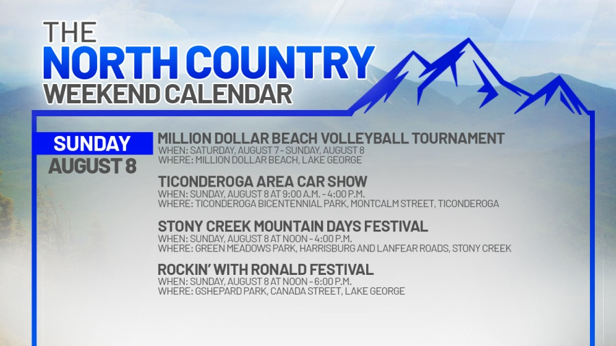 NORTH COUNTRY WEEKEND CALENDAR_SUNDAY AUGUST 8