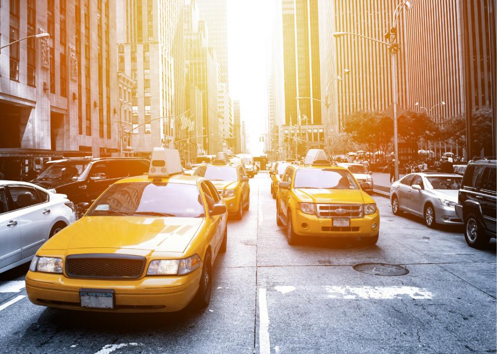 Taxis in Manhattan. (cla78 // Shutterstock)