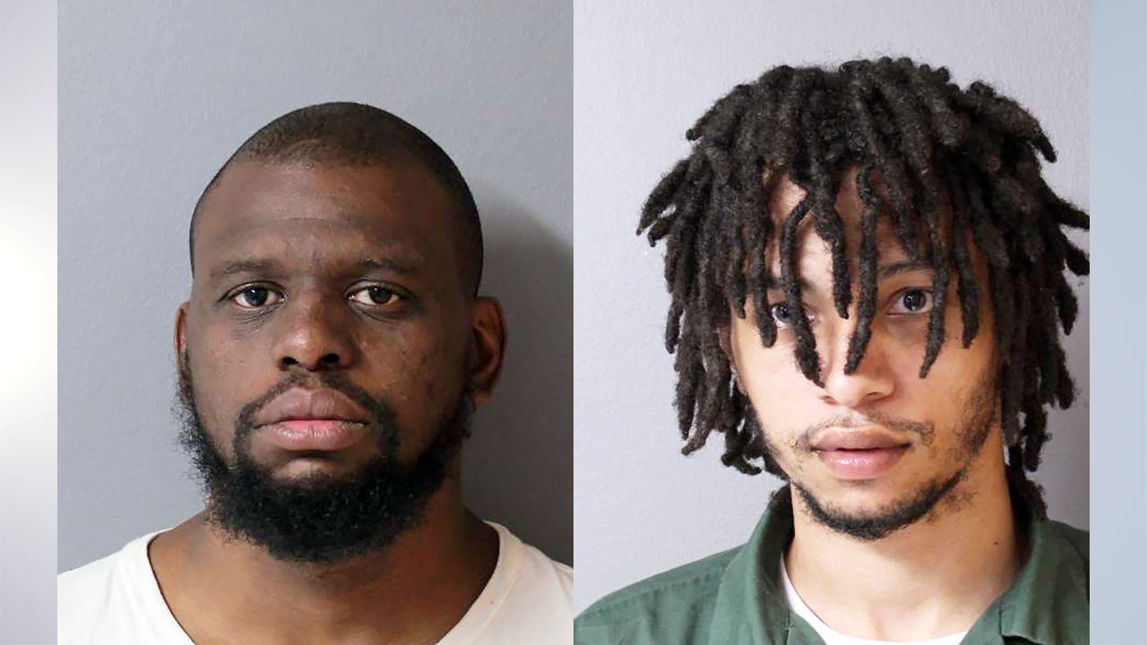 James Hargrove (L) and DiQuann Powell (R) mugshots (Hudson police department)