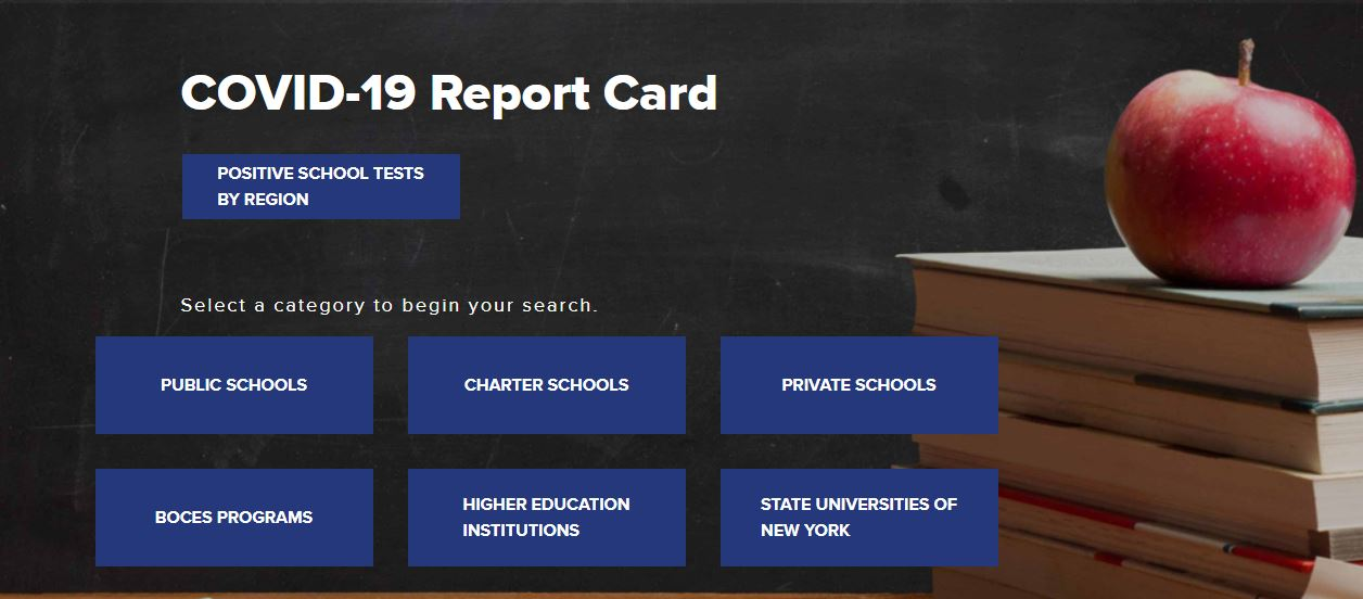 Will New York schools have to report COVID cases for 2021-2022 school year?
