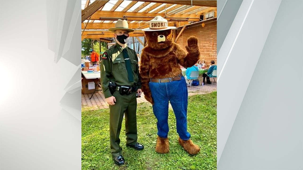 Ranger Mitchell and Smokey Bear attended the Fall Festival at Five Rivers Environmental Education Center in Delmar