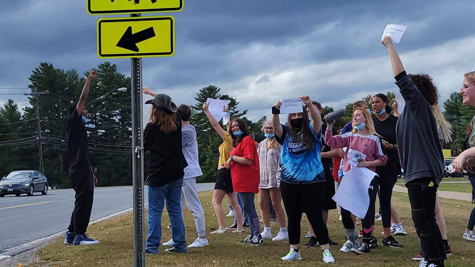 queensbury high school protest