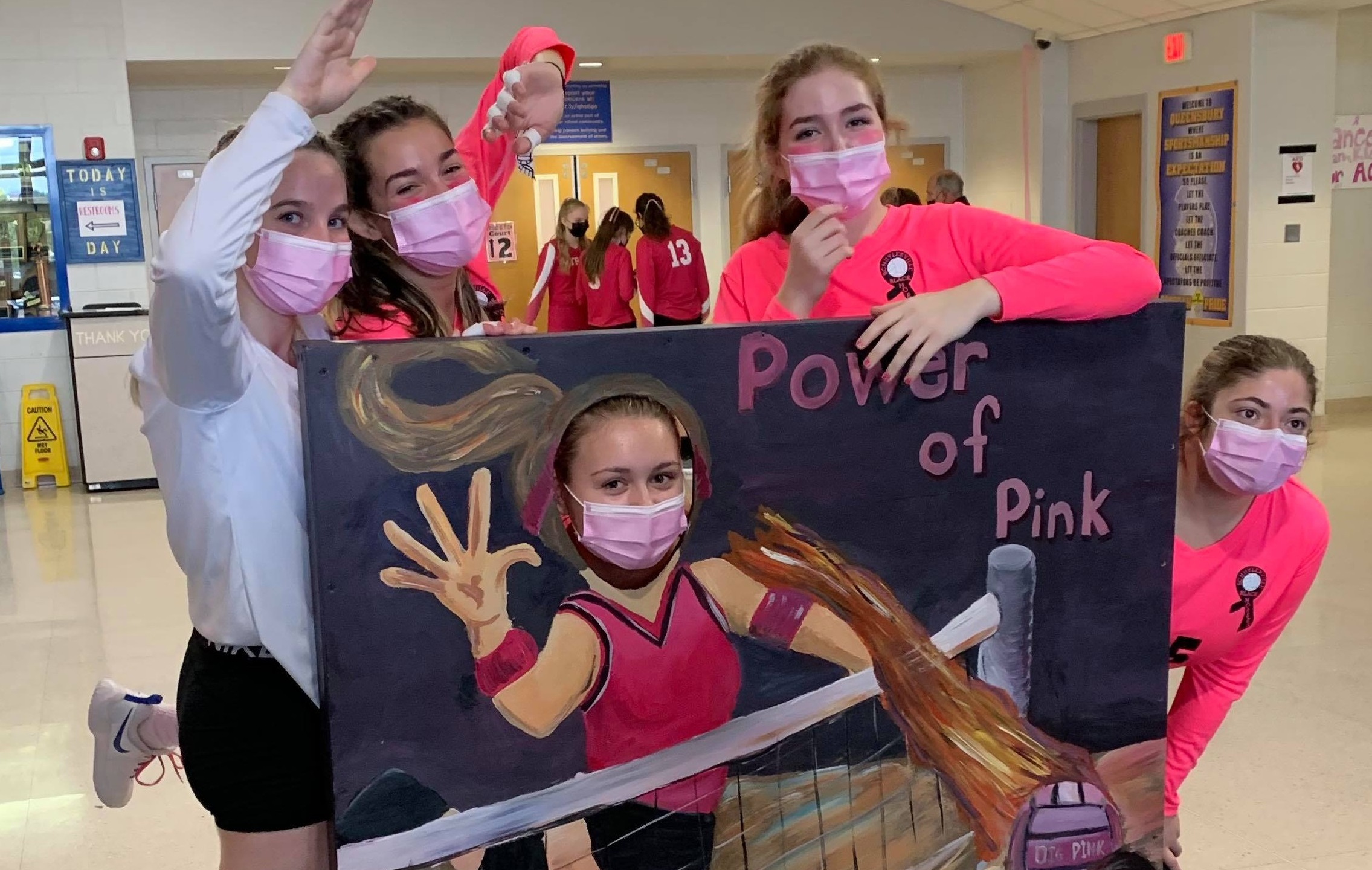 power of pink volleyball queensbury